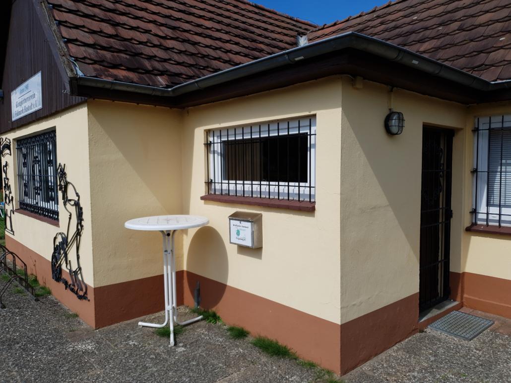 Vereinsheim Außenansicht